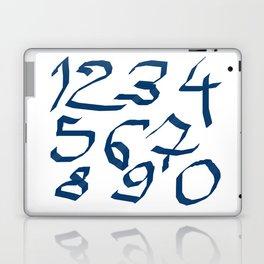 Chiffres bleus Laptop & iPad Skin