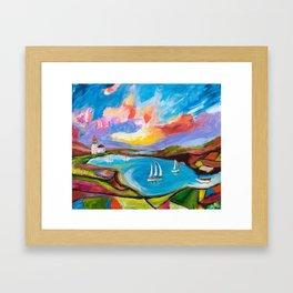 Idyllic Lakeview Framed Art Print