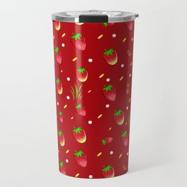 Strawberry pattern Travel Mug