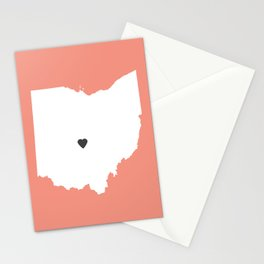 Ohio Love in Peach Stationery Cards