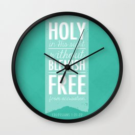 Colossians 1:21-22 Wall Clock