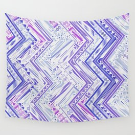PURPLE ETHNIC CHEVRON Wall Tapestry