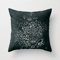 universe Throw Pillows featuring Universe by Pani Grafik