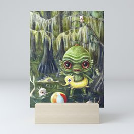 Baby Creature from the Black Lagoon Mini Art Print
