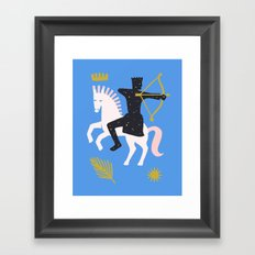 The Horseman of Conquest Framed Art Print