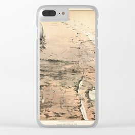 Map Of Sudan 1884 Clear iPhone Case