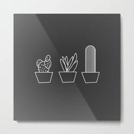 Monochrome plants Metal Print