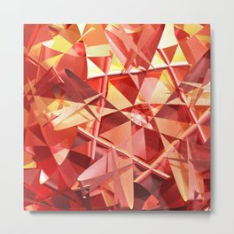 3D folded abstract Metal Print