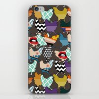 cincinnati iPhone & iPod Skins featuring Cincinnati Chickens by Sharon Turner