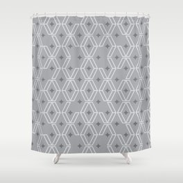 free and enclosed stars Shower Curtain