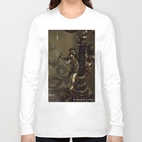 antique Long Sleeve T-shirts featuring Antique angel by Isabelle Savard-Filteau