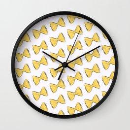 Pasta bow Wall Clock