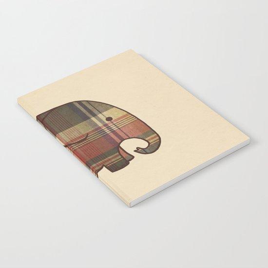 Plaid Elephant  Notebook
