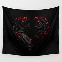 valentines Wall Tapestries featuring Valentines - Light My Fire by Khana's Web