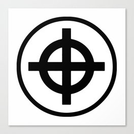 Sun Cross Wheel Cross Martial Heathen symbols Canvas Print