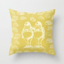 Tweedledum, Tweedledee and Caps Throw Pillow