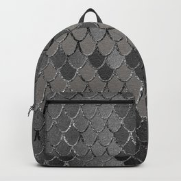 Mermaid Scales Silver Gray Glam #1 #shiny #decor #art #society6 Backpack