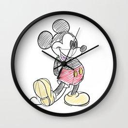 Mickey Sketch Wall Clock