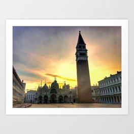 Piazza San Marco at Sunrise Art Print