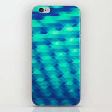 Modern Fashion Abstract Color Pattern in Blue / Green iPhone Skin