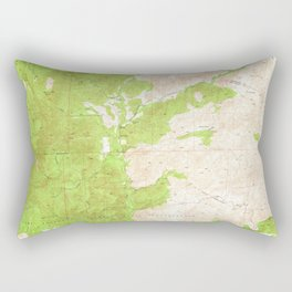 Fallbrook, CA from 1948 Vintage Map - High Quality Rectangular Pillow