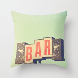 Bar. Los Angeles photograph Throw Pillow