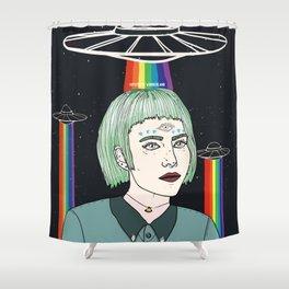 Alien Girl Shower Curtain