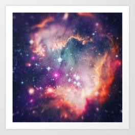 The Universe under the Microscope (Magellanic Cloud) Art Print