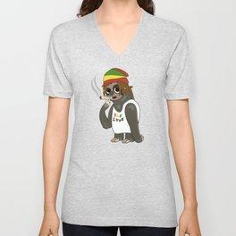 Funny Reggae Sloth With Rasta Hair Unisex V-Neck