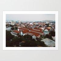 Penang Cityscape Art Print