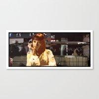 mia wallace Canvas Prints featuring Mia Wallace by Rabassa