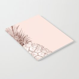 Rose Gold Pineapple on Blush Pink Notebook