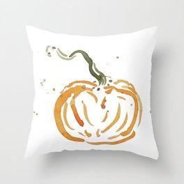 Abstracted Pumpkin Throw Pillow