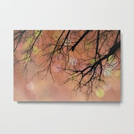 Autumn Tree Photo - Abstract, dreamy photography Metal Print