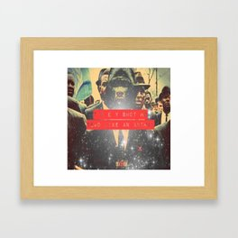 AMERIKKKA KILLS KINGS WITH NO REGARD Framed Art Print