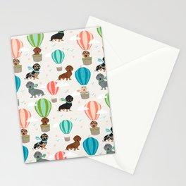 Dachshund hot air balloon dog cute design fabric doxie pillow decor phone case Stationery Cards