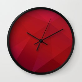 Red Triangles Wall Clock