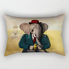 Mr. Preston J. Pachyderm visits the Sphinx Rectangular Pillow