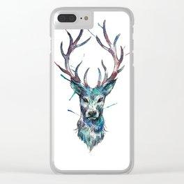 Watercolour Deer Spirit Animal Clear iPhone Case