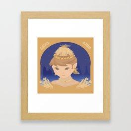 Harvest Queen Framed Art Print