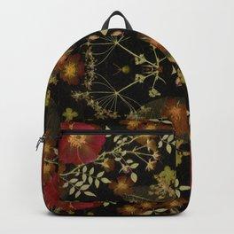 Dark Floral Roses Backpack