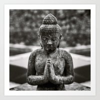 Praying Buddha Art Print