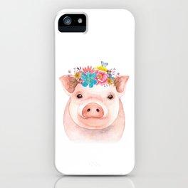 Spring Pig iPhone Case