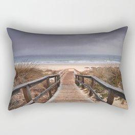 """To the beach...."". Wonderful sunrise Rectangular Pillow"