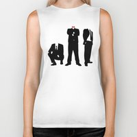suits Biker Tanks featuring Suits by ChrisShirts