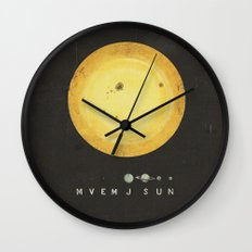 Planetary Arrangement Wall Clock