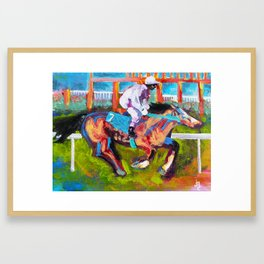 Rail Rider Framed Art Print