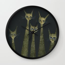 Bristol Halloween Whimsical Cats Wall Clock