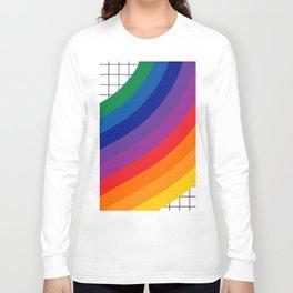 Rainbow Grid Long Sleeve T-shirt