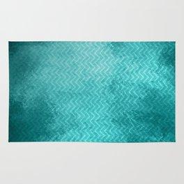 Textured limpet blue chevron pattern Rug